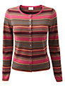 East Paige Stripe Cardigan, Merlot