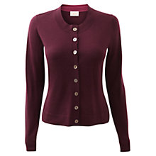 Buy East Crew Neck Merino Cardigan, Merlot Online at johnlewis.com