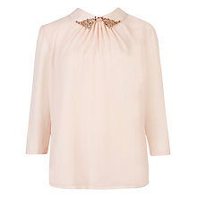 Buy Ted Baker Emmbe Shirt, Nude Pink Online at johnlewis.com