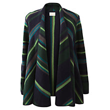 Buy East Stripe Wool Cardigan, Navy Online at johnlewis.com
