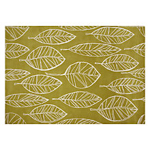 Buy John Lewis Aspen Leaf Rug, Fennel Online at johnlewis.com