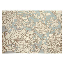 Buy William Morris Chrysanthemum Rug, Blue Online at johnlewis.com