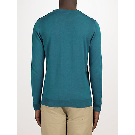 Buy Kin by John Lewis Merino Blend Button Neck Jumper, Teal Online at johnlewis.com