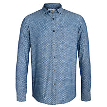 Buy John Lewis Polka Dot Chambray Long Sleeve Shirt, Indigo Online at johnlewis.com
