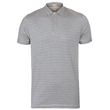 Buy Kin by John Lewis Jersey Stripe Polo Shirt, Navy/Grey Online at johnlewis.com