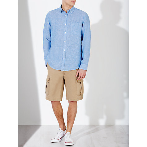 Buy John Lewis End on End Linen Long Sleeve Shirt Online at johnlewis.com