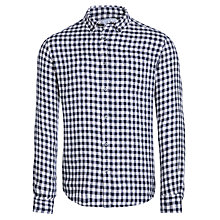 Buy John Lewis Mid Gingham Long Sleeve Linen Shirt Online at johnlewis.com