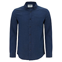 Buy John Lewis Long Sleeve Dobby Shirt, Indigo Online at johnlewis.com