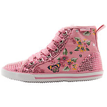 Buy Start-rite Girls' Frangipani Canvas Trainers, Pink Online at johnlewis.com