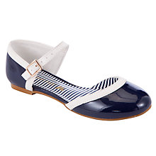 Buy John Lewis Girl Ondine Dolly Shoes, Navy/Cream Online at johnlewis.com