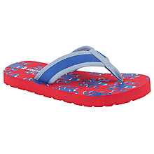 Buy John Lewis Boy Octopus Print Flip-Flop, Red/Blue Online at johnlewis.com