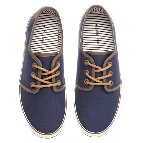 Buy John Lewis Boy Owen Low Lace Trainers, Navy Online at johnlewis.com