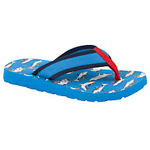 Buy John Lewis Boy Shark Print Flip-Flops, Blue Online at johnlewis.com