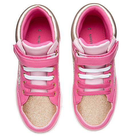 Buy John Lewis Girl Tiffany Flower High Top Trainers, Pink Online at johnlewis.com
