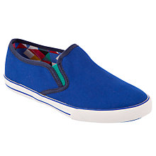 Buy John Lewis Boy Oscar Slip-Ons, Blue Online at johnlewis.com