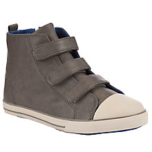 Buy John Lewis Zack Hi Top Childrens' Trainers, Grey Online at johnlewis.com