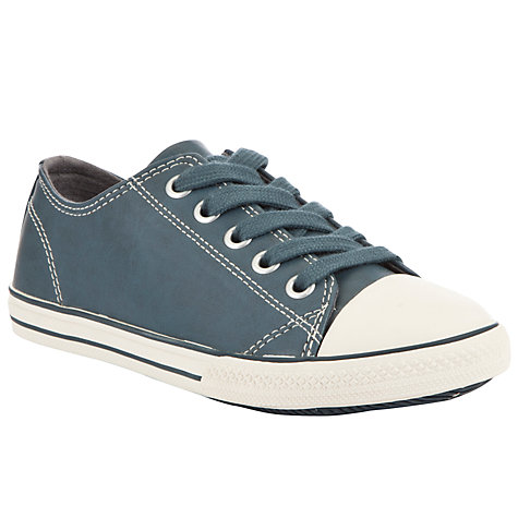 Buy John Lewis Slater Low Lace Childrens' Trainers, Blue Online at johnlewis.com