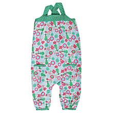 Buy Frugi Springtime Fruit Dungarees, Green Online at johnlewis.com