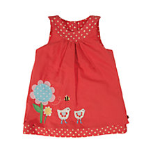 Buy Frugi Reversible Pinafore Dress, Red Online at johnlewis.com