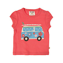 Buy Frugi Short Sleeve Camper Van T-shirt, Red Online at johnlewis.com