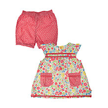 Buy Frugi 2-Piece Floral Playsuit Set, Red/Multi Online at johnlewis.com