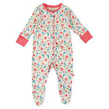 Buy Frugi Lovely Birdie Babygrow, Cream/Multi Online at johnlewis.com
