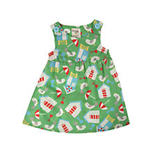 Buy Frugi Pretty Beach Party Dress, Green Online at johnlewis.com