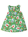 Frugi Pretty Beach Party Dress, Green
