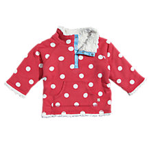 Buy Frugi Reversible Snuggle Fleece, Red Online at johnlewis.com