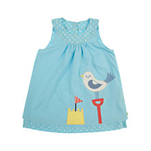 Buy Frugi Reversible Pinafore Dress, Blue Online at johnlewis.com