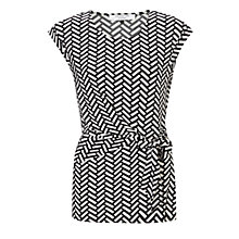 Buy COLLECTION by John Lewis Lulu Herringbone Top, Black/White Online at johnlewis.com