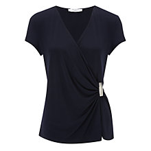Buy COLLECTION by John Lewis Reina Wrap Top, Navy Online at johnlewis.com
