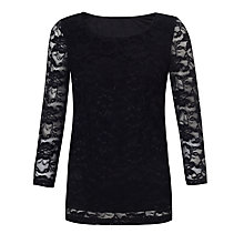 Buy COLLECTION by John Lewis Clarissa Lace Top, Black Online at johnlewis.com