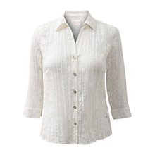 Buy East Floral Burnt Out Shirt, White Online at johnlewis.com