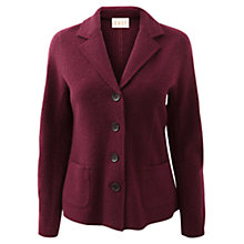 Buy East Classic Boiled Wool Blazer, Merlot Online at johnlewis.com