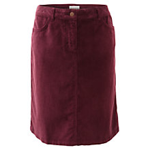 Buy East Jean Style Corduroy Skirt, Red Online at johnlewis.com