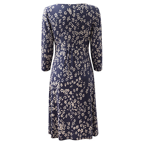 Buy East Jamie V Neck Jersey Dress, Navy Online at johnlewis.com