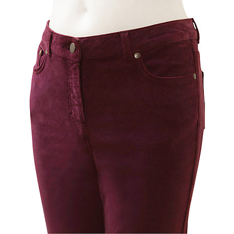 Buy East Uncut Corduroy Trousers, Red Online at johnlewis.com