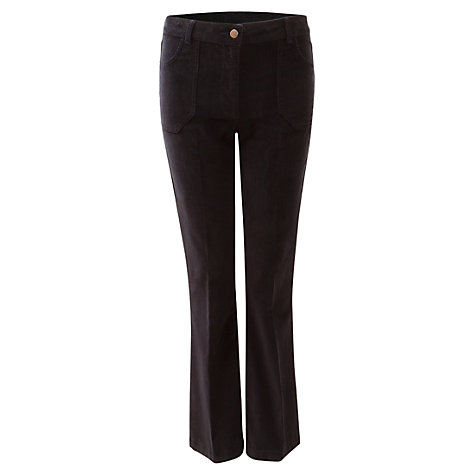 Buy East Bootcut Corduroy Trousers, Blue Online at johnlewis.com