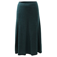 Buy East Merino Godet Cable Skirt, Ivy Online at johnlewis.com