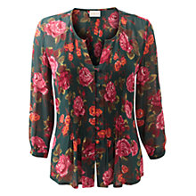 Buy East Emilia Print Blouse, Ivy Online at johnlewis.com