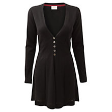 Buy East Merino Button Cardigan, Black Online at johnlewis.com