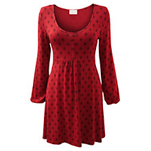 Buy East Tree Booti Button Tunic, Red Online at johnlewis.com