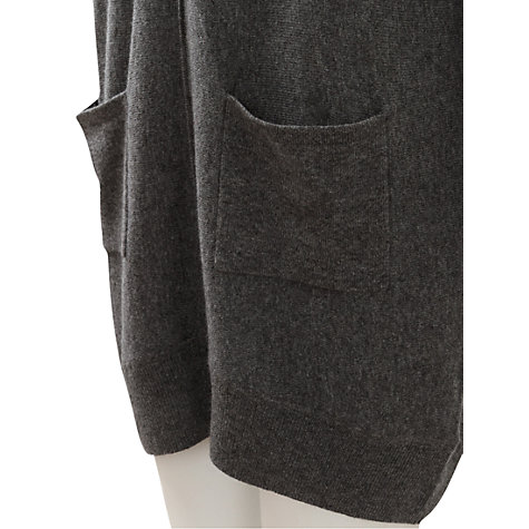Buy East Slouchy Pocket Tunic Jumper, Graphite Online at johnlewis.com