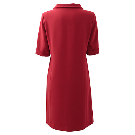 Buy East Crepe Bardot Dress, Scarlet Online at johnlewis.com