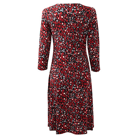 Buy East Dylan Twist Front Dress, Scarlet Online at johnlewis.com