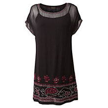 Buy East Sarai Embellished Dress, Black Online at johnlewis.com