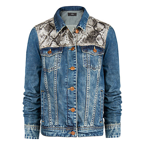 Buy Mango Snakeskin Panel Jacket Online at johnlewis.com