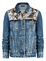 Buy Mango Snakeskin Panel Jacket, Dark Blue, S Online at johnlewis.com