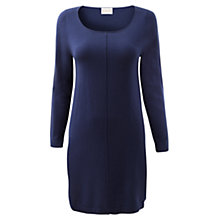 Buy East Seam Detail Merino Dress, Deep blue Online at johnlewis.com